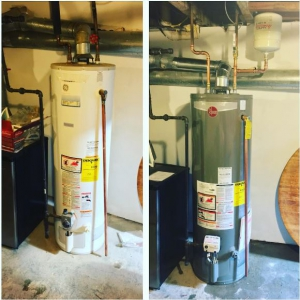 Water Heaters in the garage